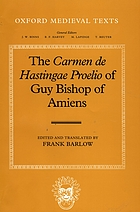 The Carmen de Hastingae proelio of Guy, Bishop of Amiens