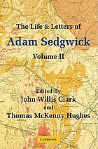 The life and letters of Adam Sedgwick