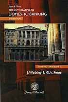Banking law The law relating to domestic banking Banking Law