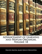 Advancement of learning and Novum organum