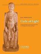 Cycle of light : six sacred songs on texts by women poets for medium-low voice and piano