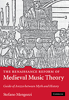 The Renaissance reform of medieval music theory : Guido of Arezzo between myth and history