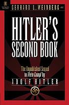 Hitler's second book : the unpublished sequel to Mein Kampf