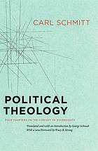 Political theology : four chapters on the concept of sovereignty