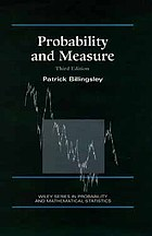 Probability and measure : third edition