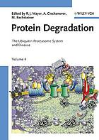 Protein degradation. the ubiquitin-proteasome system and disease