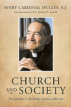 Church and society : the Laurence J. McGinley lectures, 1988-2007