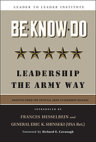 Be-know-do leadership the Army way : (adapted from the official Army leadership manual)