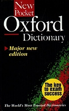 The new pocket Oxford dictionary