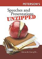 Peterson's speeches & presentations unzipped Speeches & presentations unzipped