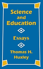 Science and education; essays