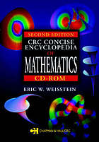 CRC concise encyclopedia of mathematics CD-ROM