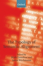 The typology of semantic alignment