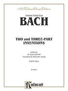 Two and three part inventions