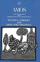 Amos : a new translation with introduction and commentary