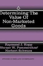 Determining the value of non-marketed goods : economics, psychological, and policy relevant aspects of contingent valuation methods