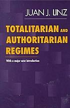 Totalitarian and authoritarian regimes