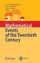Mathematical events of the twentieth centuryMathematical events of the twentieth century