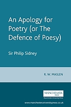 An apology for poetry : or, The defence of poesy