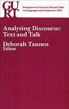 Analyzing discourse : text and talk