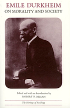 Émile Durkheim on morality and society, selected writings