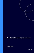 Out of and into authoritarian law