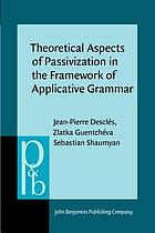Theoretical aspects of passivization in the framework of applicative grammar
