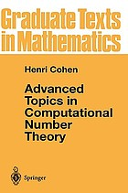 Advanced topics in computational number theory