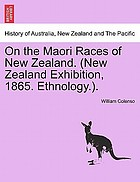 On the Māori races of New Zealand