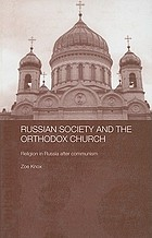 Russian society and the Orthodox Church : religion in Russia after communism