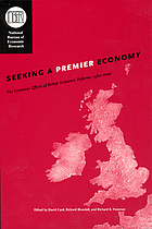 Seeking a premier economy : the economic effects of British economic reforms, 1980-2000