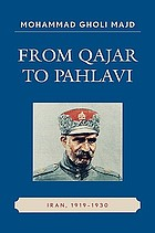 From Qajar to Pahlavi : Iran, 1919-1930