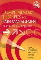Complementary therapies for pain management : an evidence-based approach
