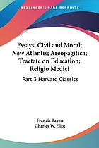 Essays, civil and moral : and the new Atlantis