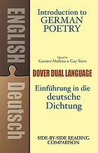 Introduction to German poetry