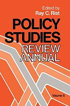 Policy studies review annual. Volume 6