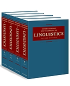 International encyclopedia of linguistics. Vol. 4. Soci - Zapo