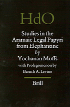 Studies in the Aramaic legal papyri from Elephantine