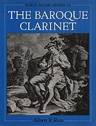 The baroque clarinet
