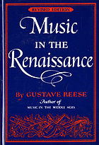 Music in the Renaissance.