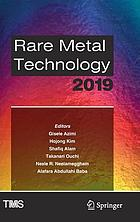 Rare metal technology 2019