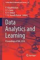 Data analytics and learning : proceedings of DAL 2018