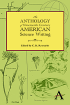 An anthology of nineteenth-century American science writing