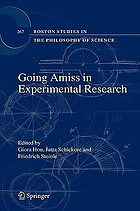 Going Amiss In Experimental Research