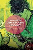 Affect theory and literary critical practice : a feel for the text