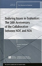 Enduring issues in evaluation : the 20th anniversary of the collaboration between NDE and AEA