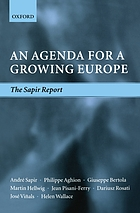 An agenda for a growing Europe : the Sapir Report