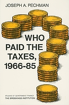 Who paid the taxes, 1966-85?
