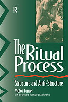 RITUAL PROCESS : structure and anti-structure.