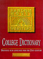 Random House Webster's college dictionary.